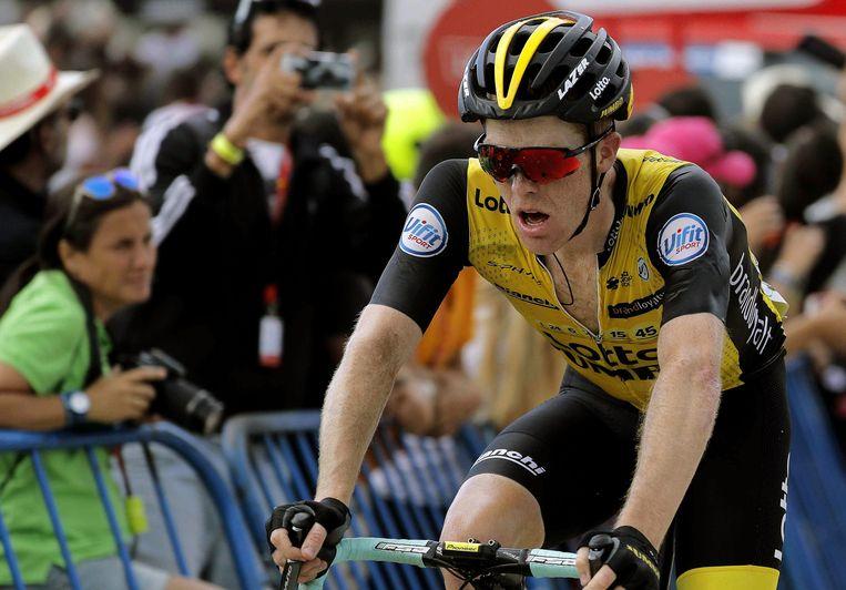 Steven Kruijswijk tijdens de La Vuelta tour. Beeld EPA