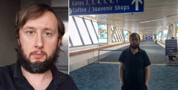 Roman Trofimov vit à l'aéroport international de Manille depuis trois mois