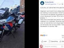 Contactsleutel terug bij motoragent na emotioneel Facebookbericht Politie Zwolle