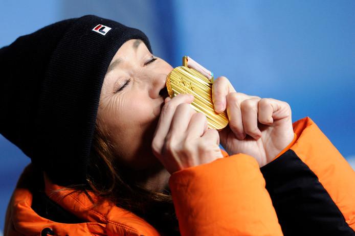 Gouden medaille voor Bibian Mentel tijdens de Paralympische Spelen.