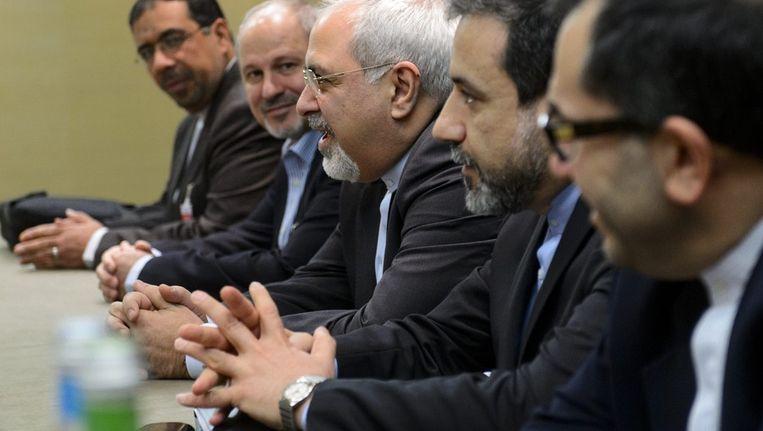 Iraanse onderhandelaars in Genève Beeld ap