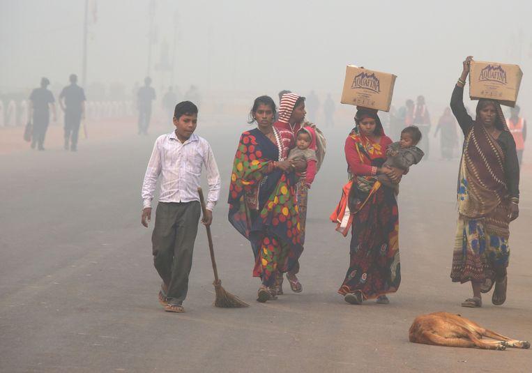 New Delhi kreunt onder de smog.