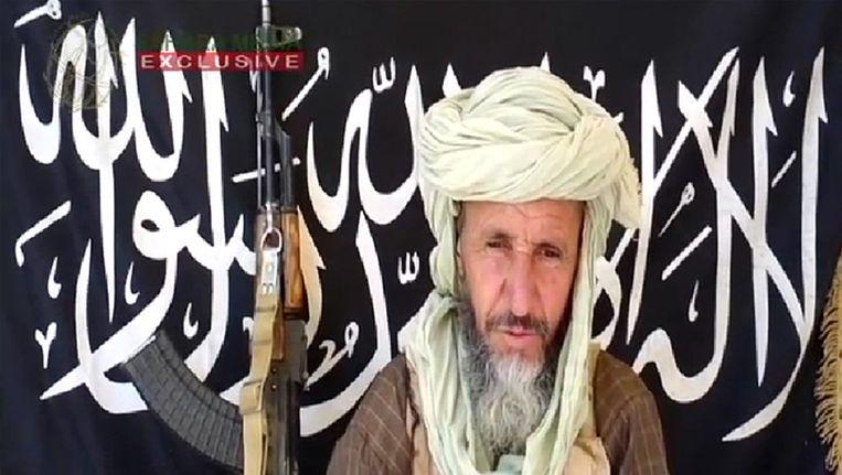 Abu Zeid op door Al-Qaeda verspreid beeld. Beeld AFP