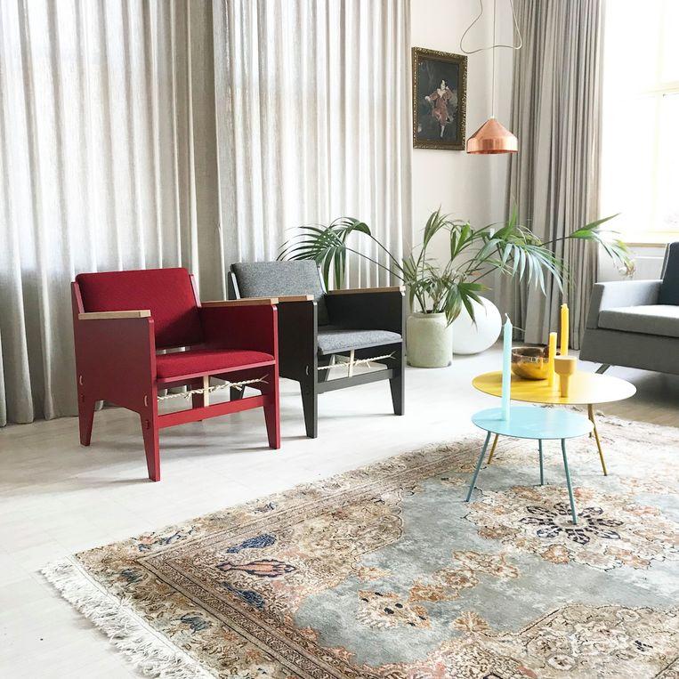 De fauteuil is iets strakker gestroomlijnd dan het prototype van de stoel Beeld Floris Hovers