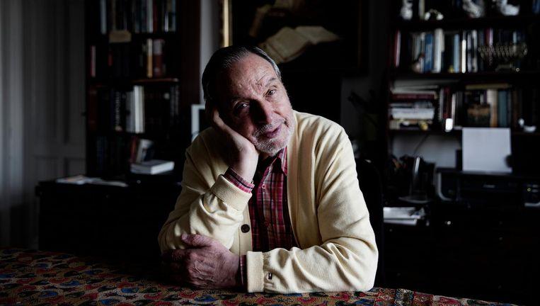 De 82-jarige schrijver László Bitó. Beeld Daniel Rosenthal