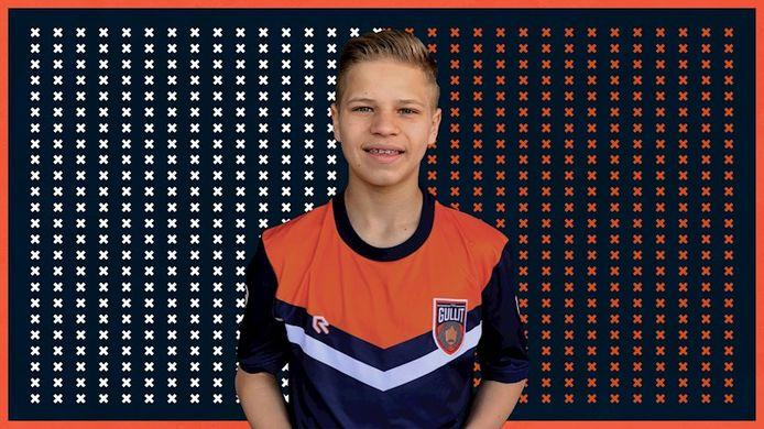 Thijs Dame (15) is de nieuwste aanwinst van het FIFA-team van Ruud Gullit.