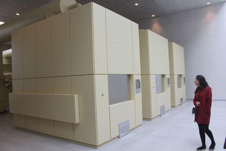 De ovens van het crematorium van Aalst.