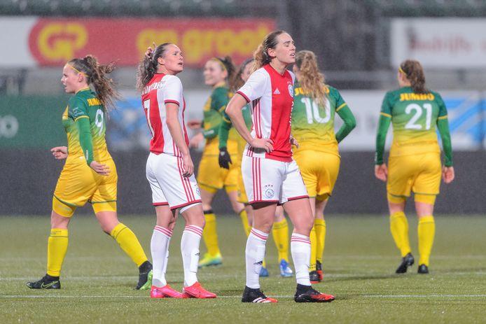 Wedstrijdbeeld van ADO - Ajax eerder dit seizoen.