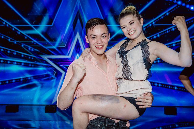 Tascha en Ian, de winnaars van het vijfde seizoen van 'Belgium's Got Talent'.