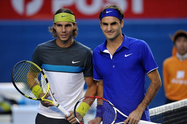 2009 Australian Open: Nadal wint 7-5, 3-6, 7-6, 3-6, 6-2. Beeld AFP