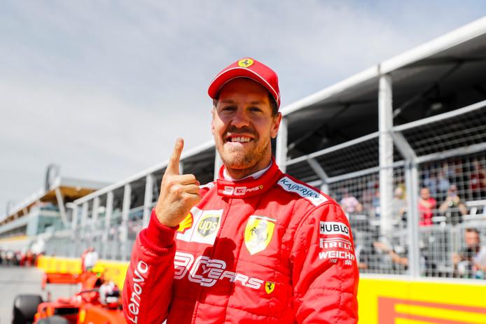 Sebastian Vettel start op P1.