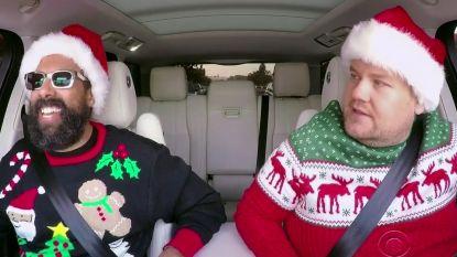 Deze carpool karaoke vol sterren brengt je meteen in de kerststemming