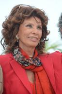 Sophia Loren in 2014 op het filmfestival van Cannes.
