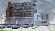 Grote winkel en twintig ruime appartementen in toren Leroy