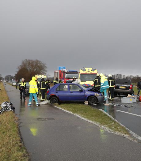 Trailer met paard schiet sloot in bij ongeluk in Doornspijk