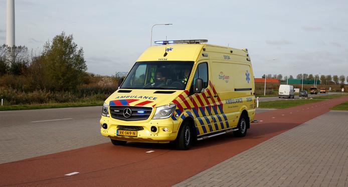 Ambulance in Terneuzen.