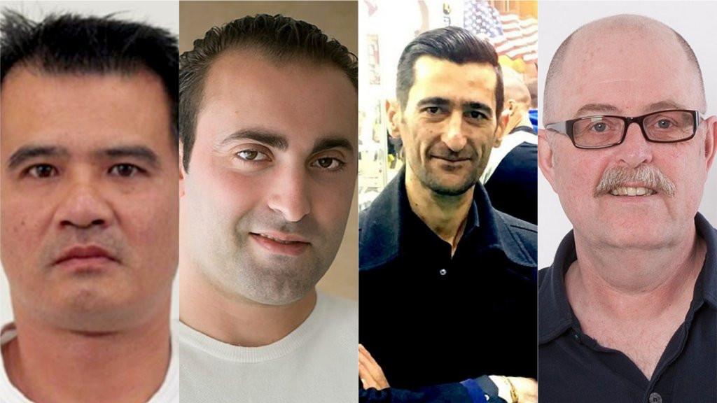 De mannen die vermoord werden in Enschede: Tuan Nguyen, Mijkel Akfidan, Artur Sargsyan en Max Klaassen.