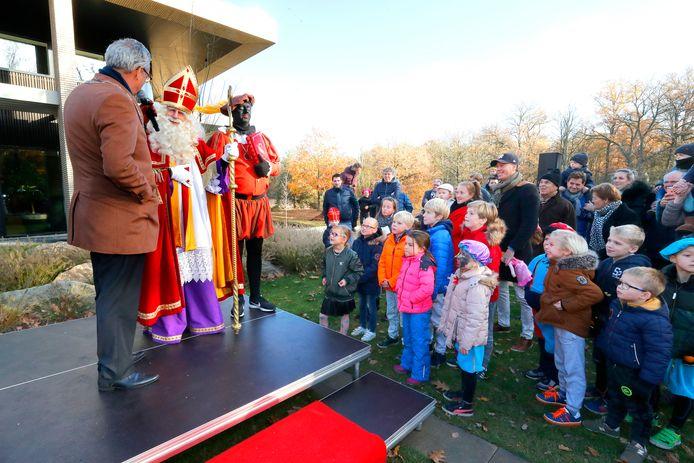 Sinterklaas in Waalre, in 2018.