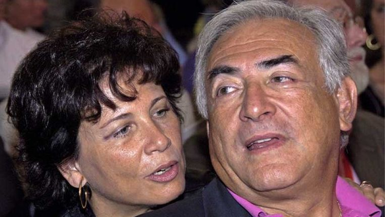 Dominique Strauss-Kahn met zijn vrouw Anne Sinclair in augustus 2006. Beeld