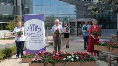 Het Zorghuis schenkt geraniumplanten aan kankerpatiënten Oostendse ziekenhuizen