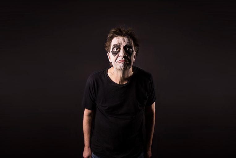 Cabaretier André Manuel in 'Dreejklezoew'. Beeld null