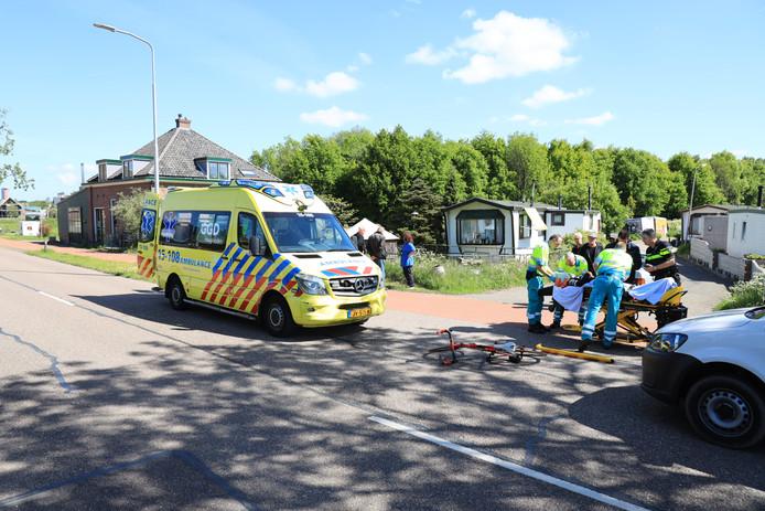 De wielrenner raakte zwaargewond bij de aanrijding