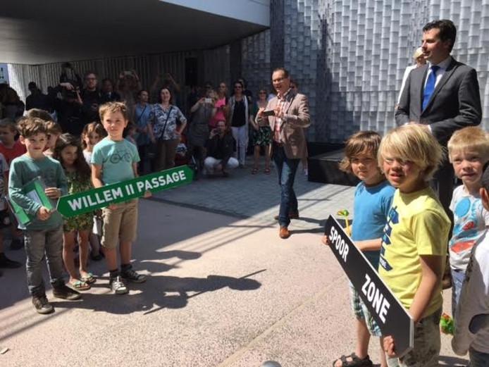 De opening van de passage. Foto Jan van Eijndhoven