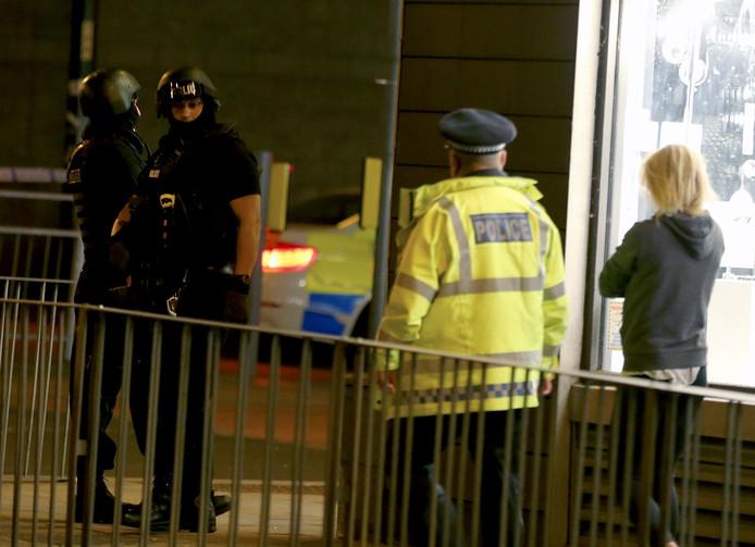 Foto ter illustratie. Politie in Manchester.