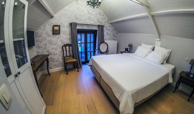 Zo ziet een slaapkamer eruit in B&B Cuerne.