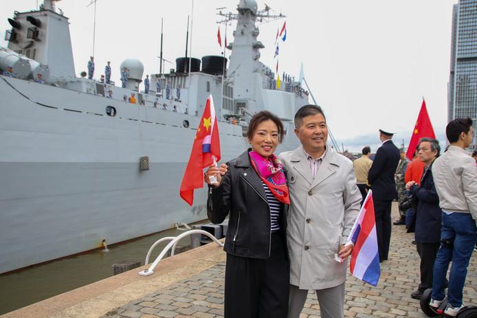 Het Chinese fergat kwam maandag aan in de Rotterdamse haven.