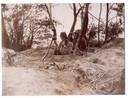 Een waarnemingspost van het 376ste Parachute Field Battalion bij Berg en Dal in '44-'45.
