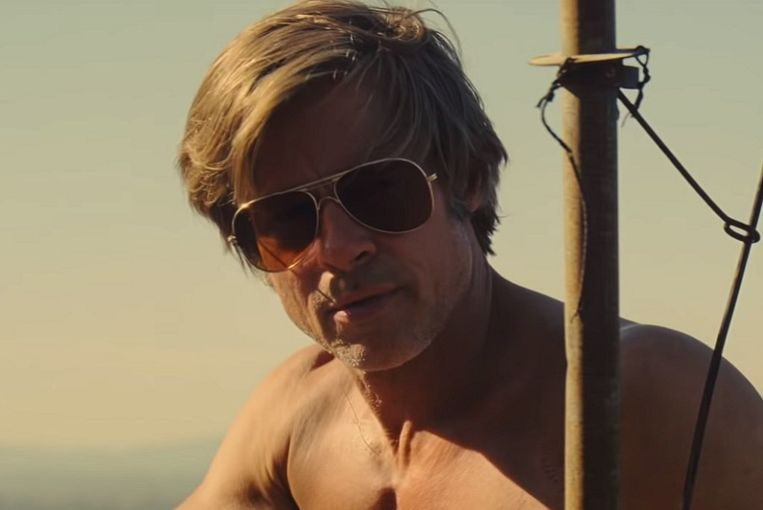 Brad Pitt in Once Upon a Time in Hollywood. Beeld null