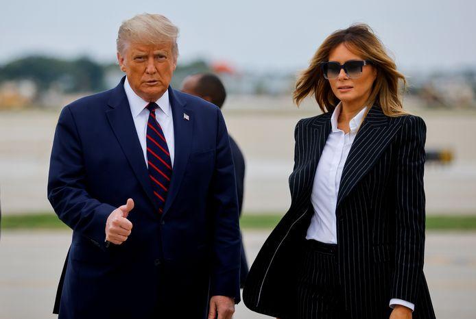 Le président Trump et sa femme Melania