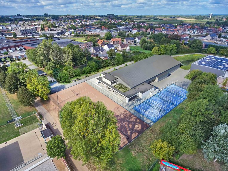 Zo zal het nieuwe tenniscomplex aan de Zeepstraat op het sport- en recreatiepark Katteberg er gaan uitzien.