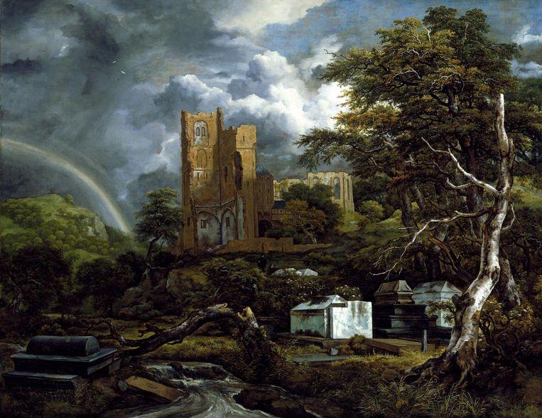 De Joodse begraafplaats van Jacob van Ruisdael. Op al deze werken met een Joods onderwerp is wel wat aan te merken. Beeld Detroit Institute of Arts