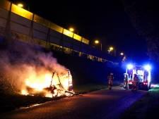 Caravan in as en autobrand in parkeergarage: meerdere voertuigbranden