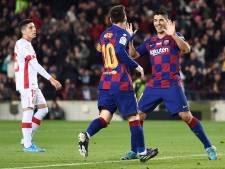 Messi leidt Barca met voetbalshow langs Mallorca