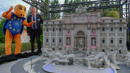 Mini-Europa viert 30 jaar met nieuwe Trevifontein