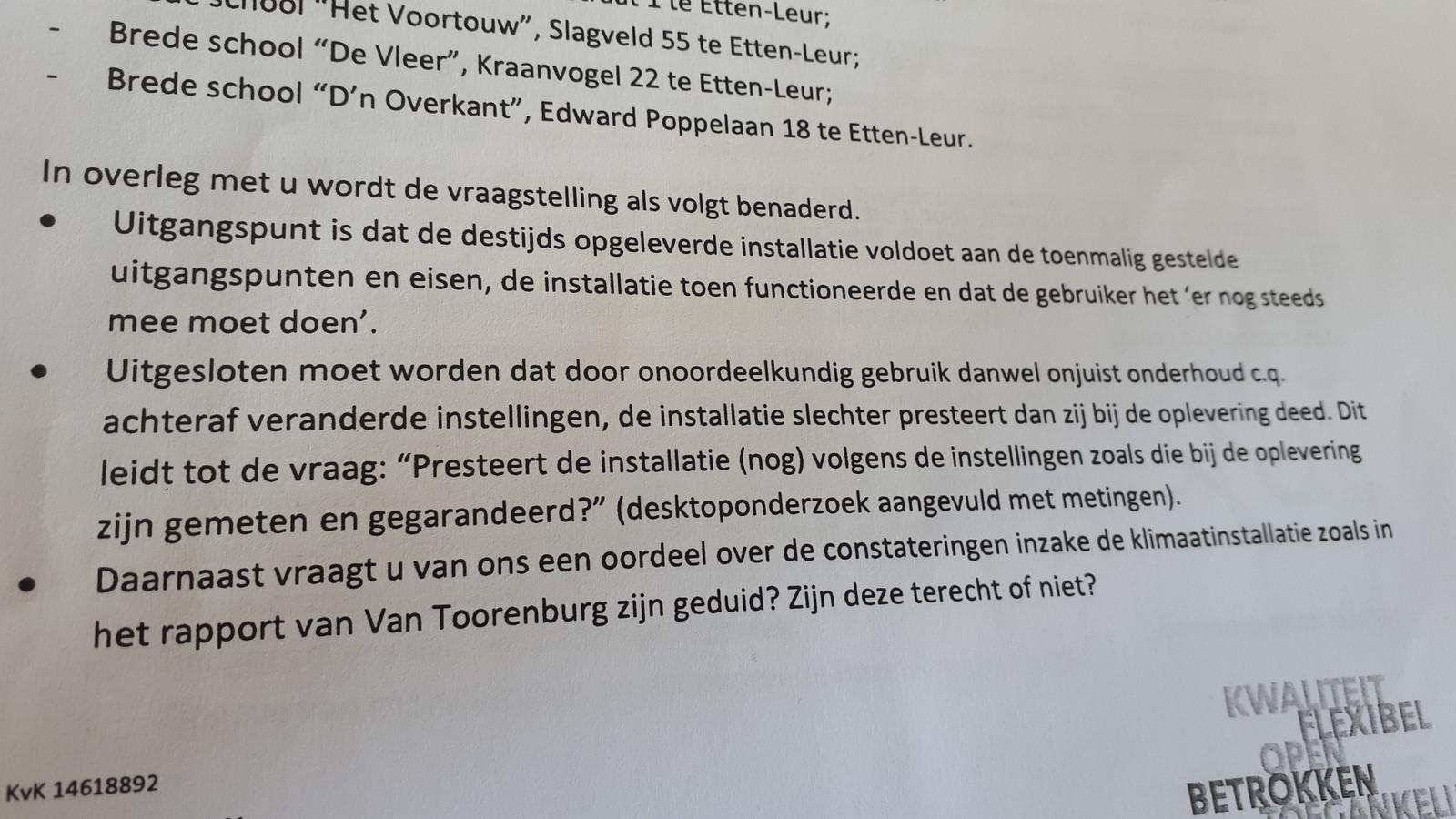 Offerte van 18 mei 2020, brief van Huygen Installatie Adviseurs aan ambtenaar van de gemeente Etten-Leur.
