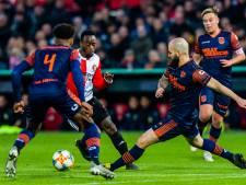 Strijdend RKC ondanks spectaculair begin onderuit tegen Feyenoord