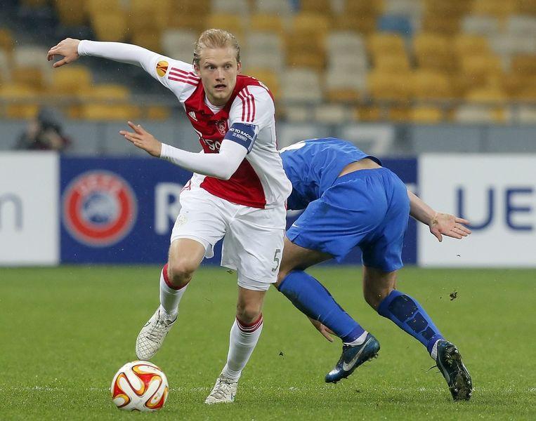 Ajacied Nicolai Boilesen wilde zijn contract niet verlengen, en werd sindsdien niet meer opgesteld. Beeld epa
