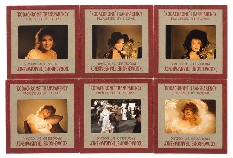 Zes van de foto's van Marilyn Monroe, gemaakt door make-up-artiest Allan Snyder. Beeld ap