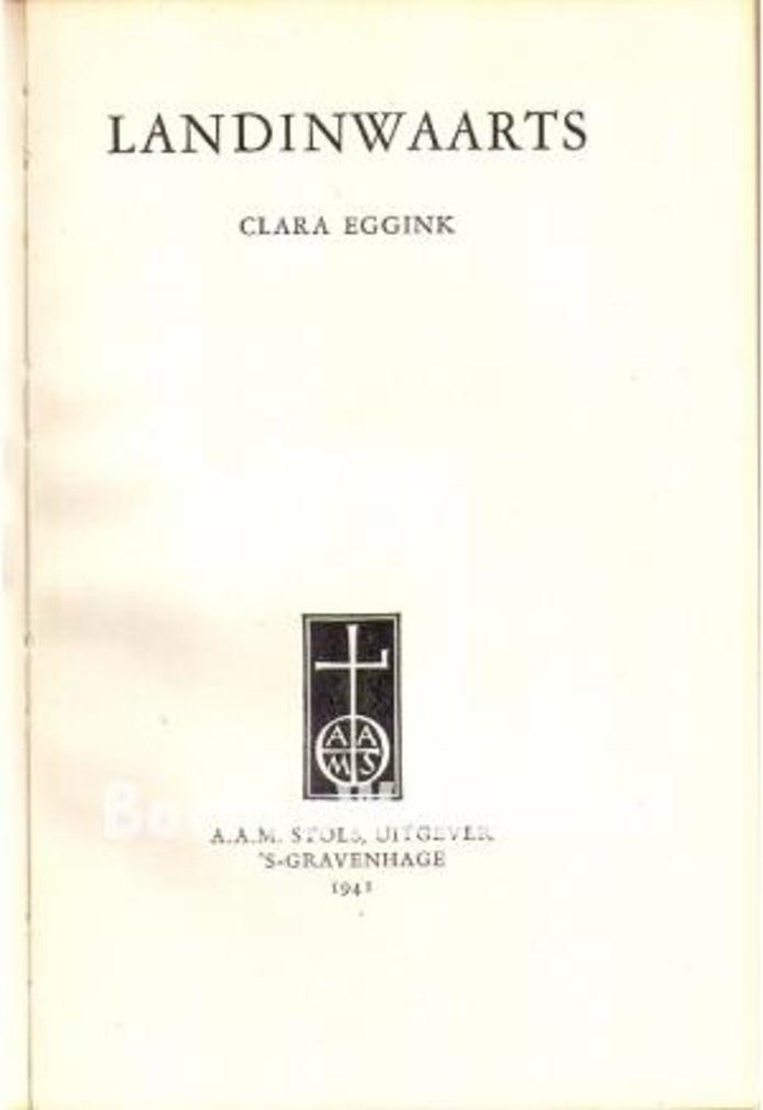 Cover Clara Eggink landinwaarts.