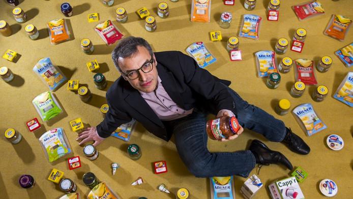 Roland ten Klooster, verpakkingsprofessor en uitvinder van de makkelijk te openen deksel op HAK-potjes.