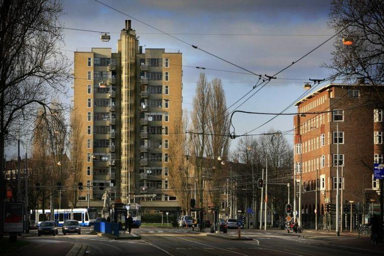 De Wolkenkrabber op het Victorieplein. Foto Floris Lok Beeld