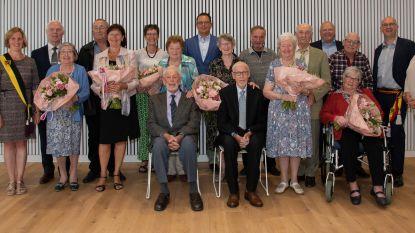Huwelijksjubilarissen in de bloemetjes gezet