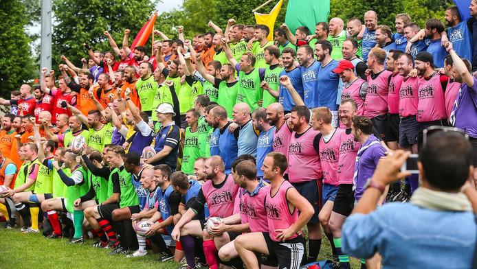 Deelnemers van de Gay Rugby Championship in Berlijn.