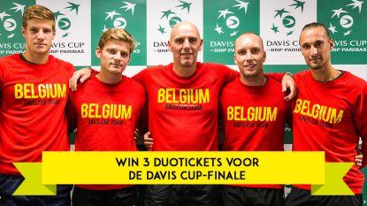 Geen kaartjes voor de Davis Cup-finale? Swipe jezelf doorheen onze quiz en win één van de drie duotickets