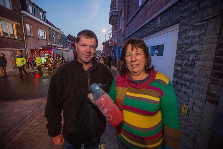 Buurman Geert Pappaert en zijn vriendin Muriele.