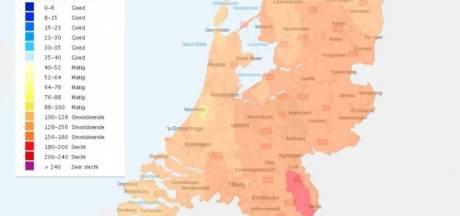 Waarschuwing voor smog in de regio, luchtkwaliteit morgen in hele land slecht
